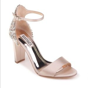 23e44a419dc Badgley Mischka Shoes - Badgley Mischa Seina Ankle Strap Sandal in Nude